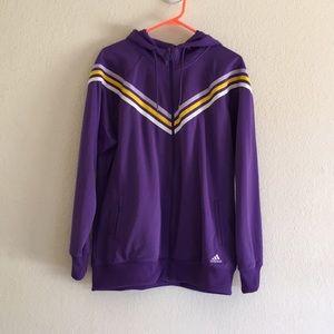 Purple Adidas Jacket In Size XL
